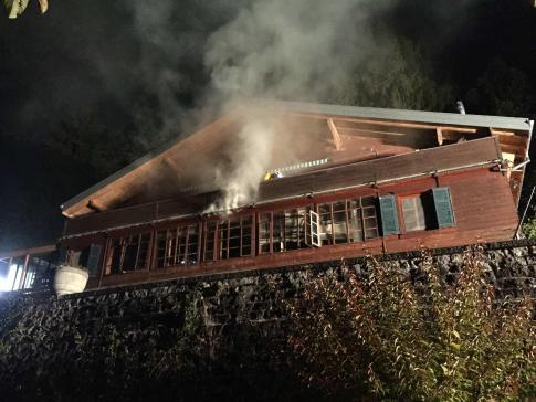 Incendie à Vuadens