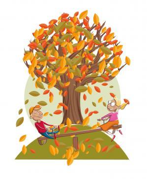 Die vier Jahreszeiten eines Baumes