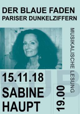 «Der blaue Faden. Pariser Dunkelziffern» – musikalische Lesung