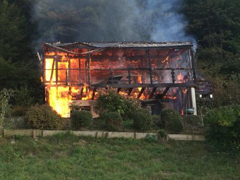 Incendie d'un chalet à Cheyres