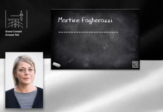 Vereidigung der neuen Grossrätin Martine Fagherazzi