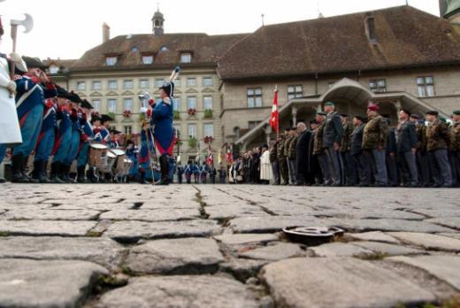 Die Zeremonie In Memoriam gedenkt des vor 100 Jahren unterzeichneten Waffenstillstandes
