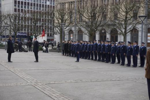 31 neue Polizisten wurden in Freiburg vereidigt