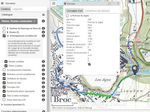 """Mise à jour du thème """"Routes cantonales"""" sur le portail cartographique"""
