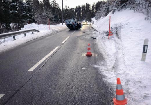 Automobiliste blessé dans une sortie de route aux Paccots