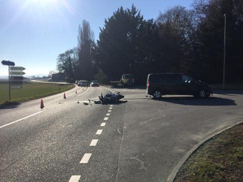 Un motard grièvement blessé à Vallon / News nur auf Französisch
