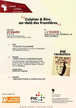 Koch-Workshop «Cuisiner & Rire au-delà des frontières» und Aufführung «Un fou noir au pays des blancs» - Freiburger Woche gegen Rassismus 2019