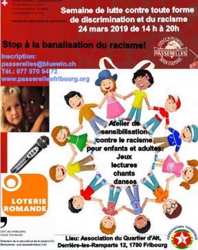"""Atelier """"Où commence le racisme? Que puis-je faire?"""" - Semaine fribourgeoise contre le racisme 2019"""