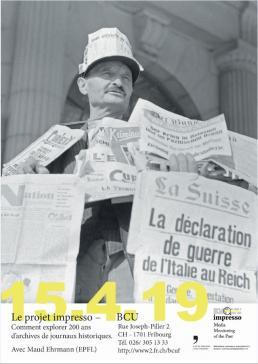Projet impresso: comment explorer 200 ans d'archives de journaux historiques