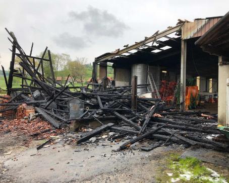 Incendie par négligence d'une grange à Vuarmarens