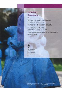 6 juillet 2019 - Fête du Palmarès au Conservatoire Fribourg