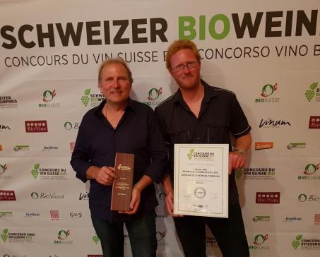 """1ère place au Concours du Vin Suisse Bio pour la """"Réserve du Conseil d'Etat"""""""
