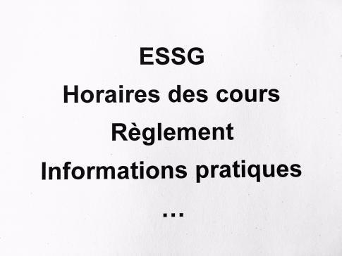 Informations utiles pour les personnes en formation à l'ESSG et les employeurs