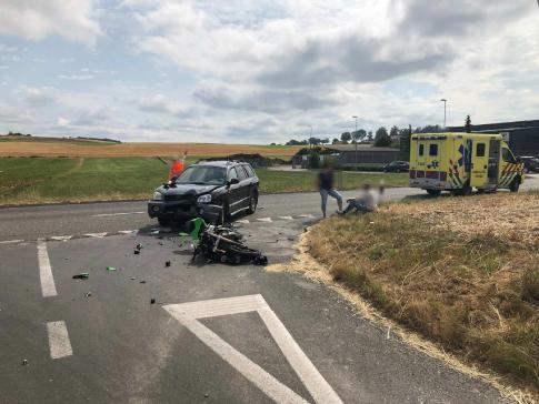Verkehrsunfall mit einer verletzten Person in Düdingen / News uniquement en allemand
