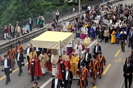 Fête-Dieu en ville de Fribourg