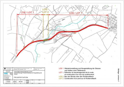 Die Arbeiten für den Ausbau und die Sanierung der Kantonsstrasse Riederberg–Bösingen beginnen am 3. September