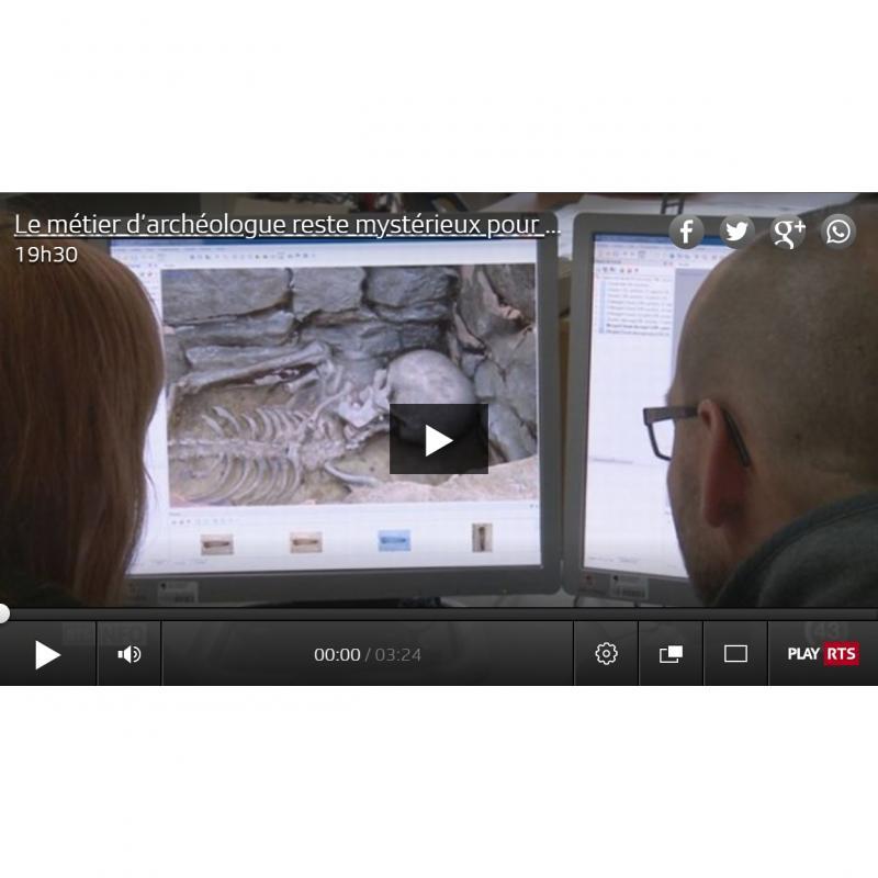 Reportage RTS sur l'archéo-anthropologie à Fribourg