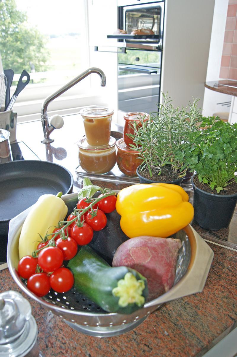 Mise en valeur des produits du jardin familial
