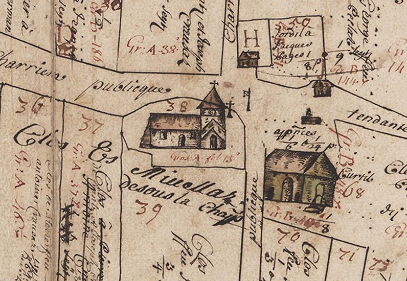 Plan de dîme de Chatonnaye (1717), détail