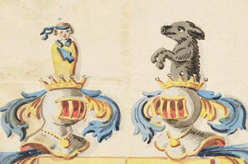 Wappen Techtermann (1819, Detail