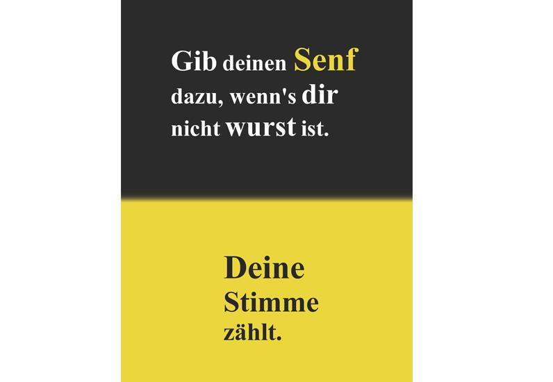 Plakatte CinéCivic Wettbewerb Ihr Senf entscheidet