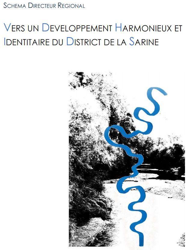 Première page du Schéma directeur régional de la Sarine
