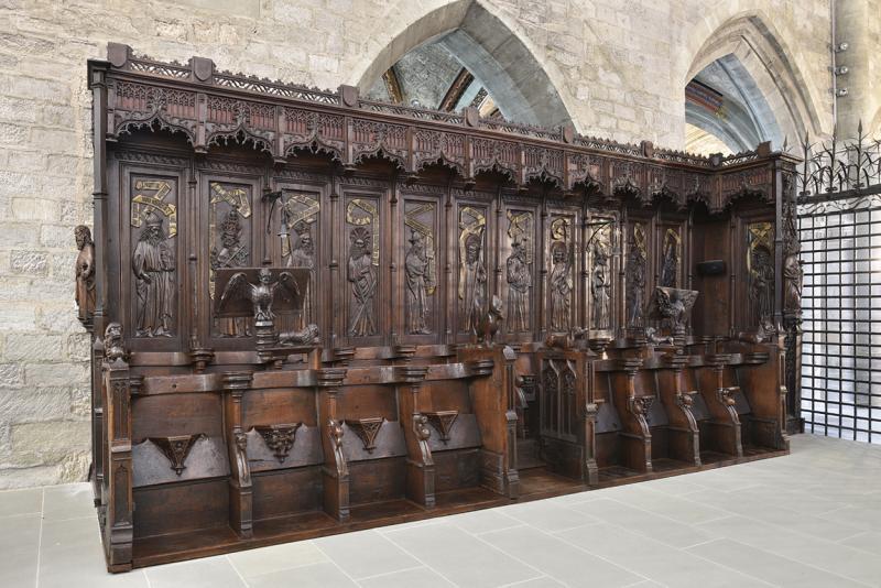 Stalles de la collégiale Notre-Dame-de-l'Assomption de Romont, Atelier d'Antoine et Claude de Peney, 1464-1468, rang sud