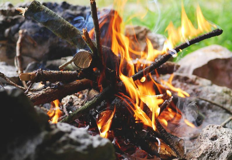 Brand im Wald : Vorsicht