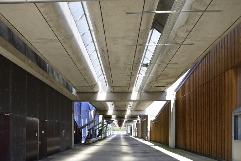 L'ancien centre de recherche Geigy à Saint-Aubin, l'un des hauts-lieux de l'architecture du XXe siècle dans le canton de Fribourg, un site industriel et patrimonial à reconvertir
