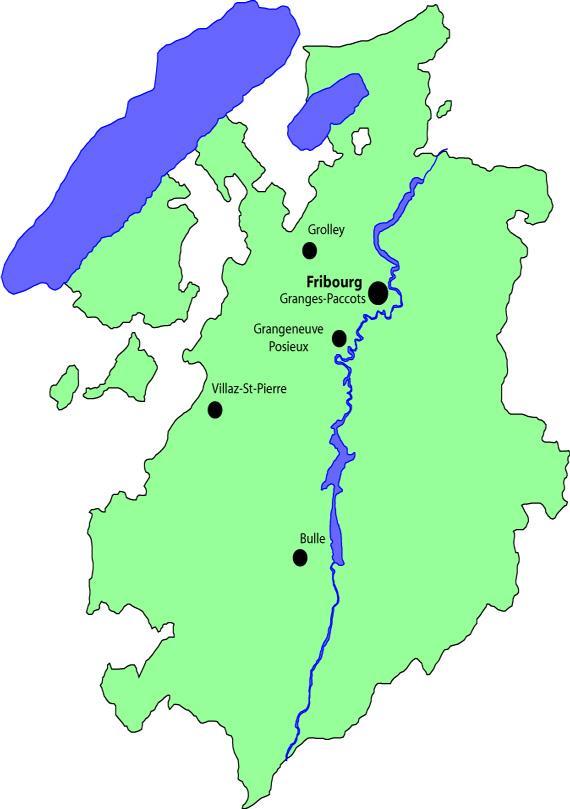 Localisation des infrastructures de l'ACPC