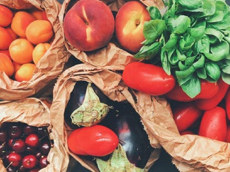 photo représentant des fruits et des légumes