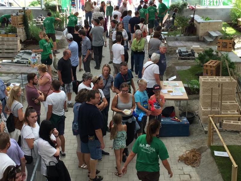 Image montrant la halle de formation des horticulteurs