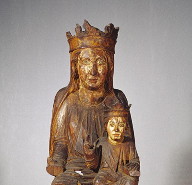 Vierge à l'Enfant d'Attalens, milieu du XIIIème, Inconnu Bois de tilleul avec fragments de polychromie ancienne