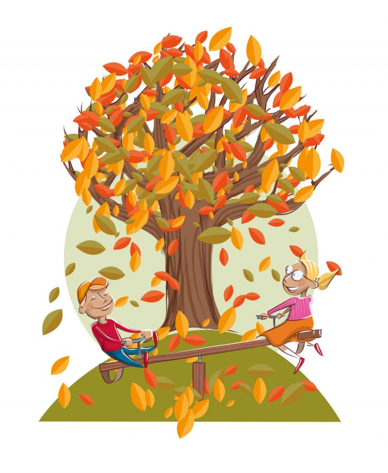 Quatre saisons de l'arbre - automne