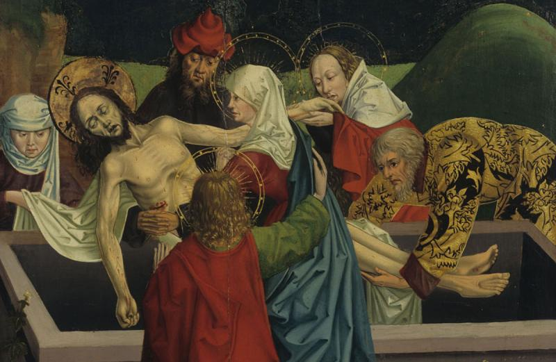 Inconnu, Roi des Amorites / Mise au tombeau, vers 1480
