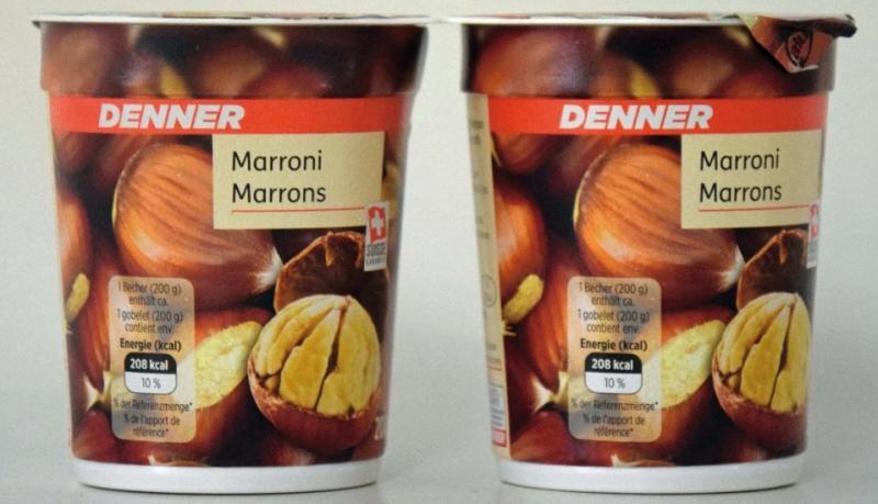Marroni Joghurt verkauft bei Denner