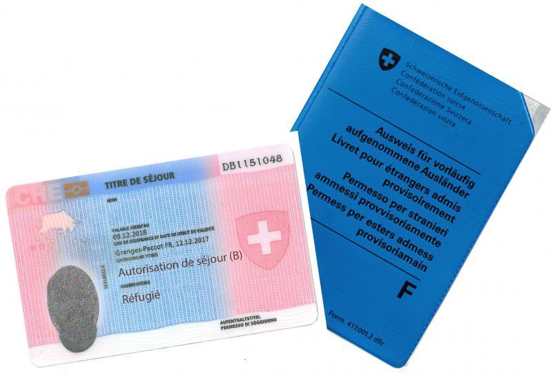 Ausweis B und vorläufig aufgenommene Personen (Ausweis F)