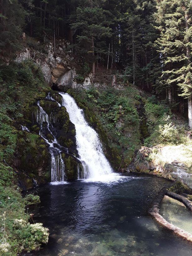 Der Wasserfall von Jaun - ein Beispiel für eine Karstquelle