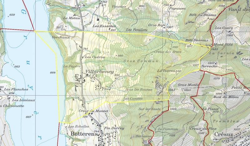 Botterens secteur Villarbeney en BDMO