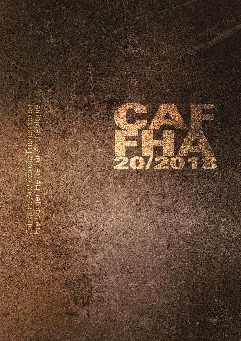 Nouvelle couverture des cahiers d'archéologie fribourgeoise 2018