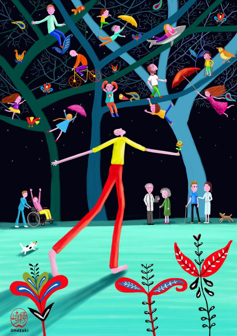 Tag der Kranken 2019: Illustration von Leslie Umezaki
