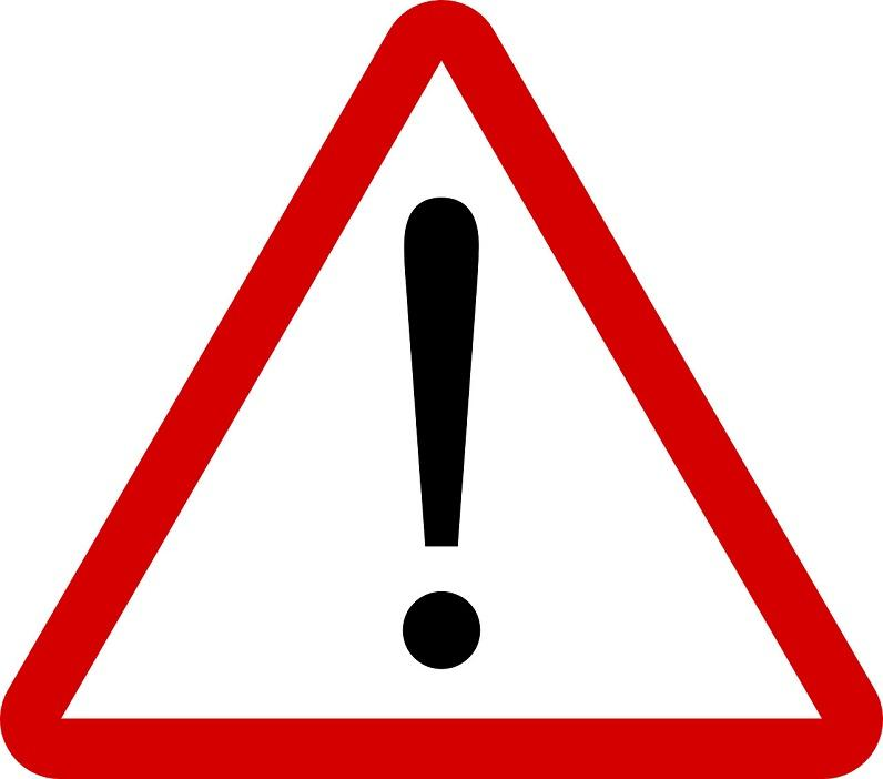 Schild öffentliche Warnung