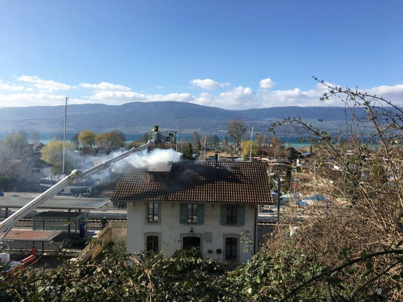 Incendie gare Cheyres