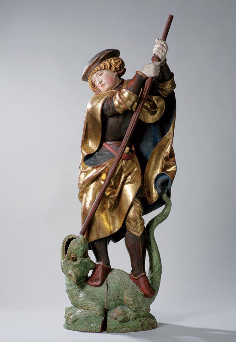 sculpture en bois st-Georges