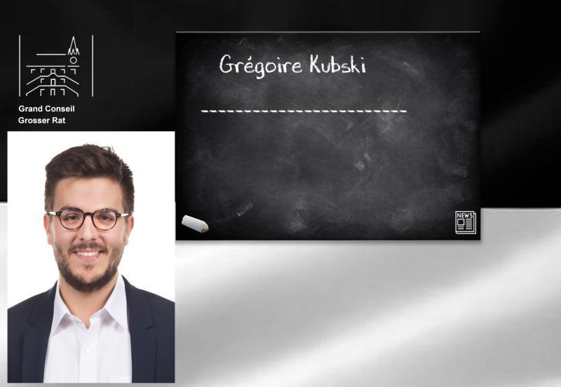 Vereidigung des neuen Grossräters Grégoire Kubski
