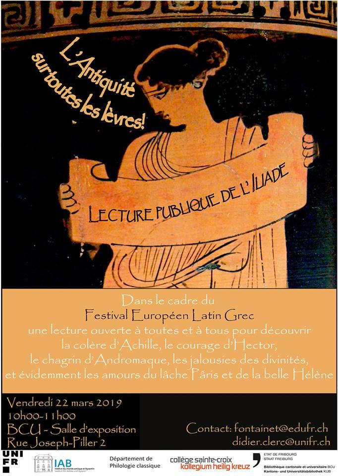 Lecture publique de l'Iliade