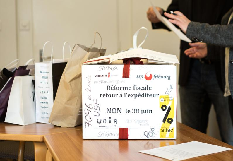 Einreichen des Referendumsbegehrens gegen das Gesetz über die Umsetzung der Steuerreform – Steuervorlage 17 (SV17)