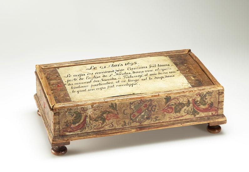 Coffret du linceul de Pierre Canisius, 1695