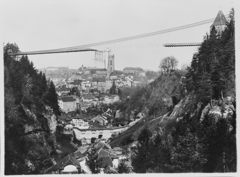 L'accident de l'ancien Pont suspendu de Gottéron, Fribourg
