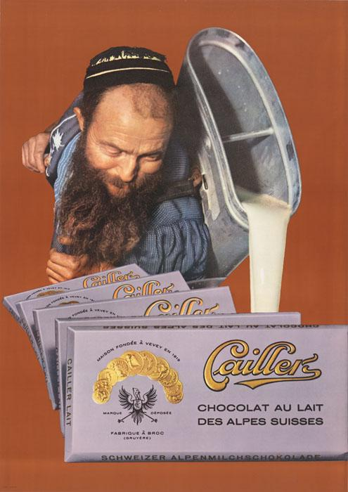 Cailler, chocolat au lait des Alpes suisses. BCU, Collection d'affiches